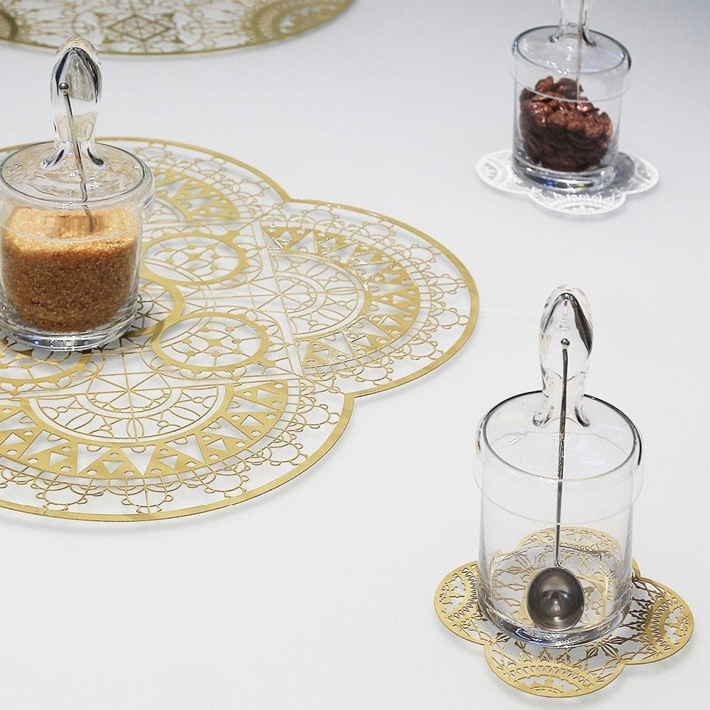 Driade Italic Lace Round Placemat Agof Store
